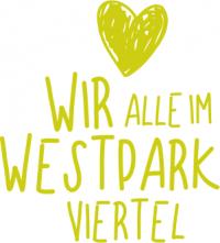 """Schriftzug """"Wir alle im Westparkviertel"""""""